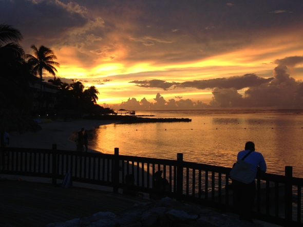 Sunset over Montego Bay, Jamaica